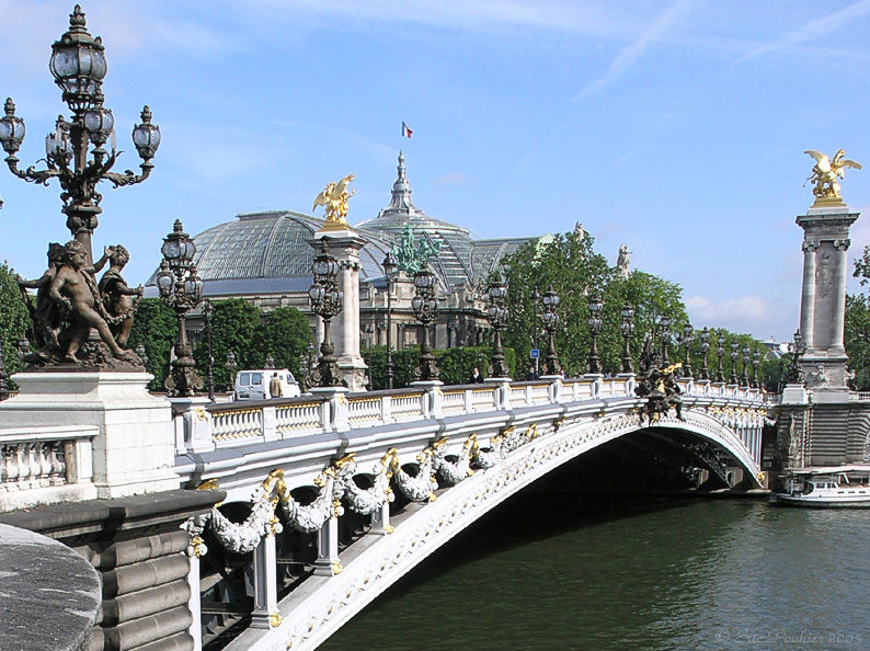 Pont Alexandre III on the backdrop of Grand Paris
