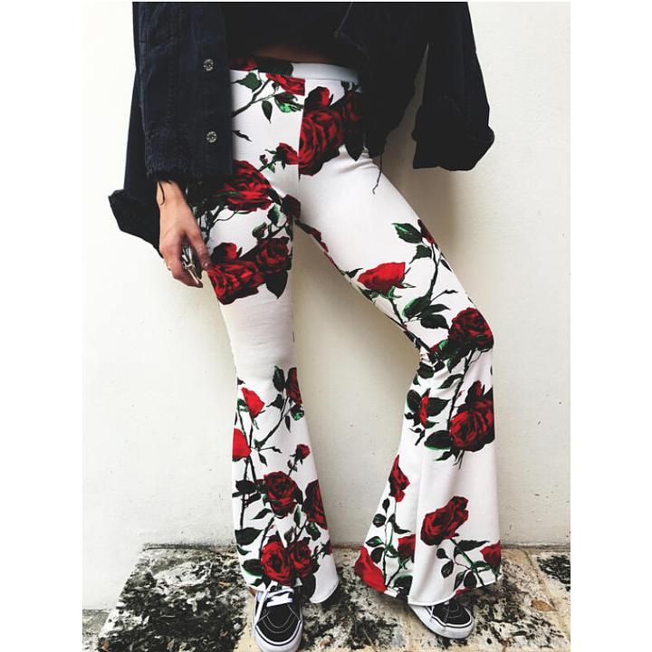 boho floral print wide leg pants by Travel Gorgeous