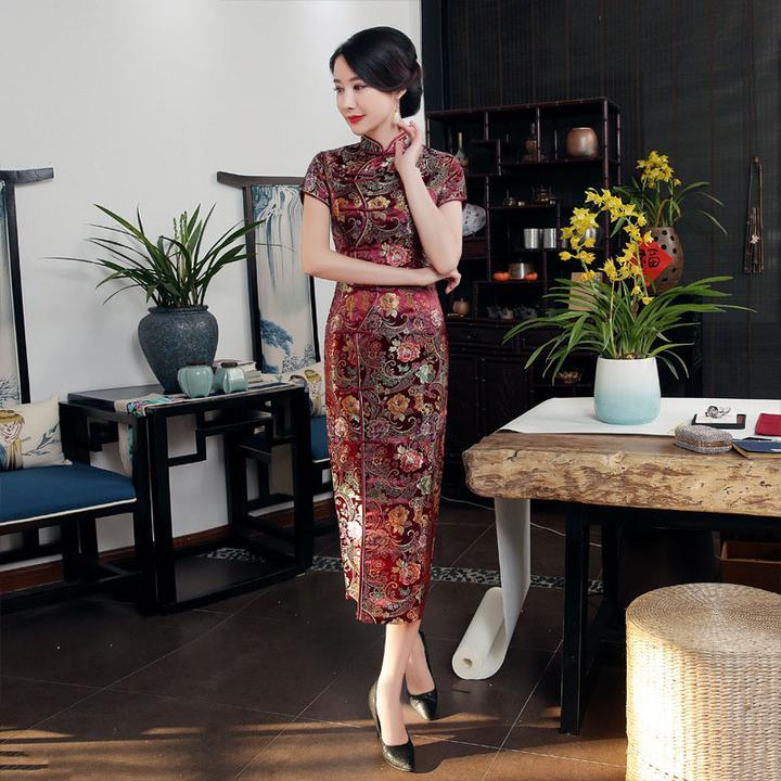 elegant cheongsam novelty long dress by Travel Gorgeous