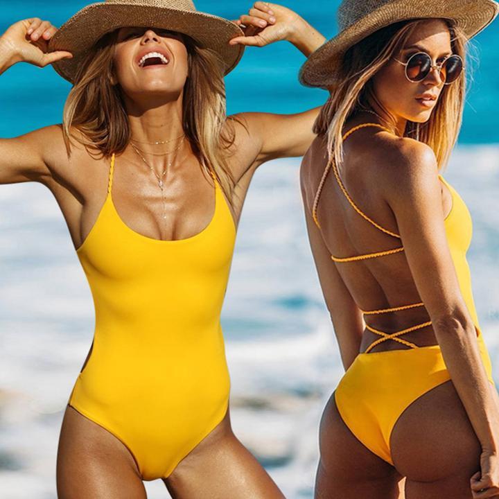 retro sexy back push up monokini by Travel Gorgeous